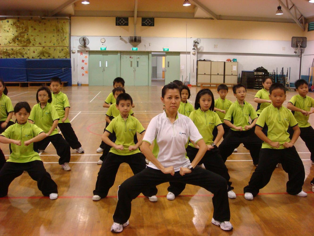 Kids Wushu Tai Chi Kungfu class Singapore